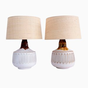 Large Italian Ceramic Table Lamps, 1960s, Set of 2