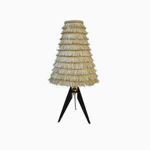 Österreichische Dreibein Messing Tischlampe, 1950er