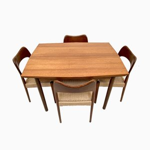 Teak Extendable Dining Table, 1960s