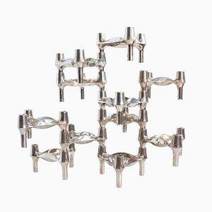 Modularer Kerzenhalter von Fritz Nagel & Ceasar Stoffi für Quist, 1960er, 11er Set
