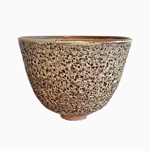 Volcanic Glaze Bowl Or Vase by Edna Arnow, 1960s