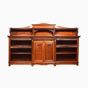 Large 19th Century Walnut Breakfront Shelf