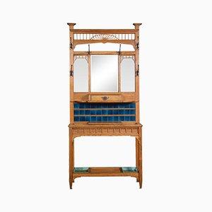 Antiker Kunsthandwerkstisch aus Eiche