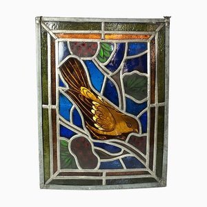 Antique Hanging Stained Glass Window with Soldering