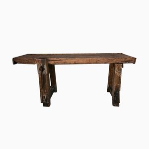 Antique French Oak Workbench
