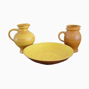 Vintage Keramik Set von Wilhelm Kagel, 1950er, 3er Set