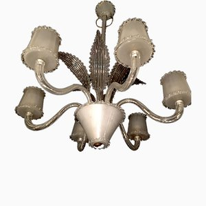 Vintage Satin Chandelier from Seguso