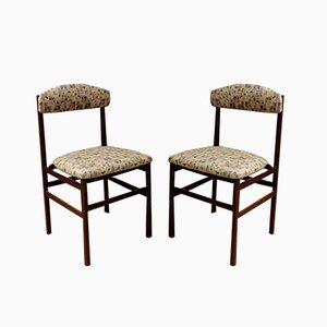 Chaises de Salon en Tissu, Italie, 1960s, Set de 2