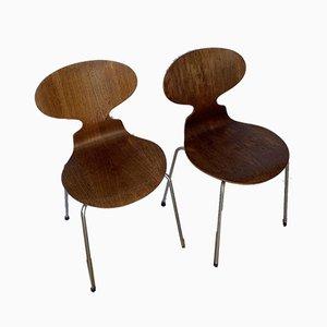 Ant Chairs von Arne Jacobsen für Fritz Hansen, 1950er, 4er Set