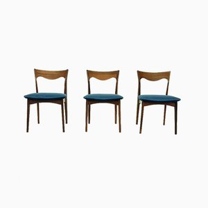 Dutch Rosewood Dining Chairs from AWA Meubelfabriek, 1950s, Set of 3