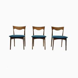 Niederländische Palisander Esszimmerstühle von AWA Meubelfabriek, 1950er, 3er Set