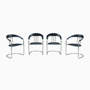Vintage Italian Dining Chairs, Set of 4