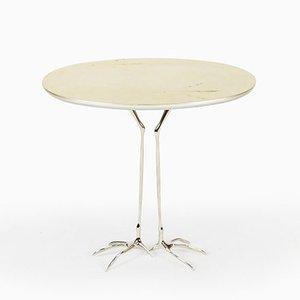 Niedriger Traccia Tisch in Blattgold von Meret Oppenheim für Cassina, 2000er
