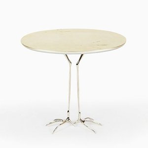 Table Basse Traccia en Feuille Dorée Blanche par Meret Oppenheim pour Cassina, 2000s