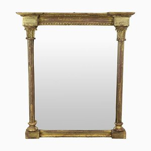 Antique Regency Style English Gilded Wall Mirror, 1810s