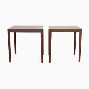 Mid-Century Danisht Rosewood Side Tables by Severin Hansen, Set of 2