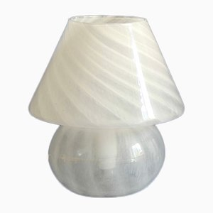 Italian Murano Glass Mushroom Model Ibisco Table Lamp, 1970s