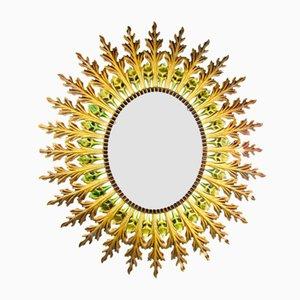 Spiegel mit Rahmen in Sonnen Optik, 1950er