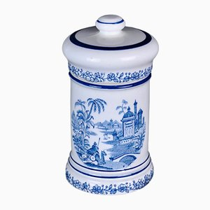 Blue Pharmacy Bottle from La Cartuja Pickman, 1960s