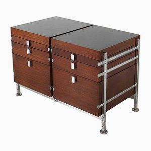 Mid-Century Double Chest of Drawers by Jules Wabbes for Mobilier Universel