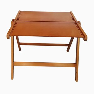 Vintage Beech and Plywood Folding Coffee Table, 1970s