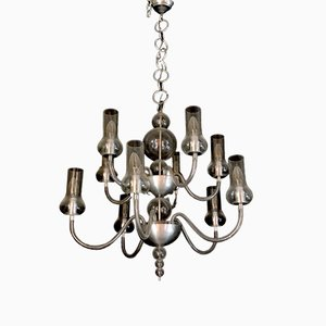 Mid-Century Chandelier by Flavio Poli for Seguso