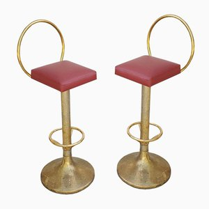 Mid-Century Italian Bar Stools, 1960s, Set of 2