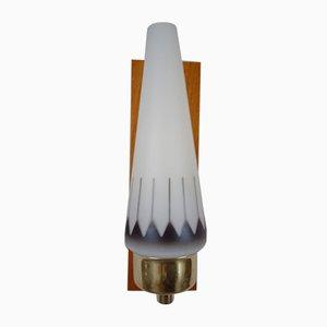 Skandinavische Mid-Century Art Deco Teak Wandlampen, 1950er, 2er Set
