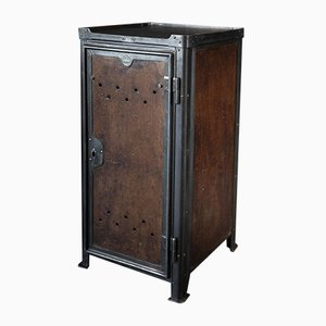 Vintage Industrial Wooden Front Cabinet by Robert Wagner for Rowac, 1930s