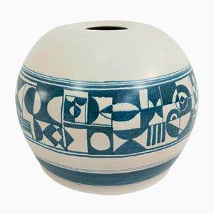 Große Italienische Keramikvase von F. Santi, 1960er