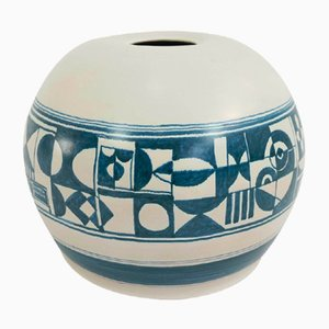 Large Italian Ceramic Vase from F. Santi, 1960s