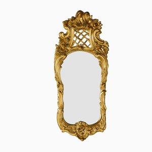 Antiker Schwedischer Spiegel mit Holzrahmen