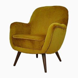 Mid-Century Velvet Armchair, 1960s