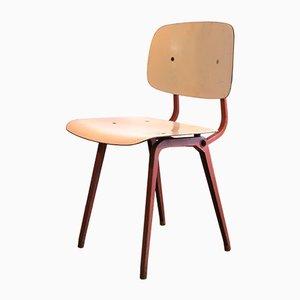 Industrielle Revolt Stühle in Weiß & Pink von Friso Kramer für Ahrend De Cirkel, 1953, 10er Set