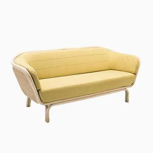 Bôa Rattan Sofa with Gabriel Fabrics Medley 62054 Cushion by At-Once for Orchid Edition