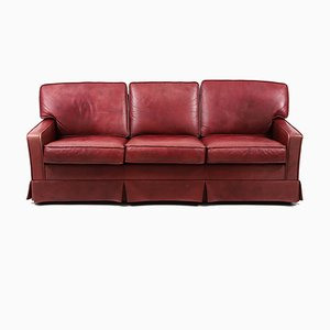 Scandinavian Modern Leather 3-Seater Sofa from Dux