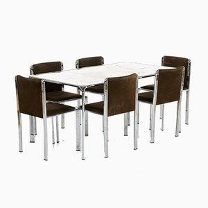 Set de Chaises et Tables de Salle à Manger Modernes Onyx, Italie, Set de 7