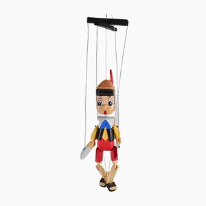 Vintage Pinocchio Marionette Doll, 1980s