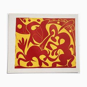 Picador Picador Goading avec Matador Linocut par Pablo Picasso, 1962