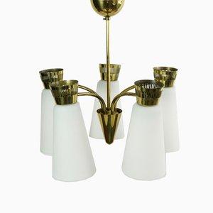 Brass Chandelier from Itsu, 1950s