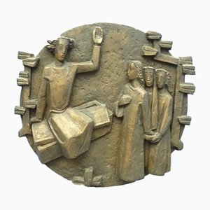 Mid-Century Bronze Wall Sculpture by Gottlieb Ulmi, 1960s