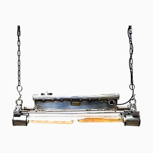 Kleine rechteckige Modell Rectangle Deckenlampe aus gegossenem Aluminium, 1960er