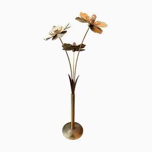 Vintage Italian Patinated Brass Floor Lamp