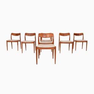 Rosewood Dining Chairs by Johannes Andersen for Uldum Møbelfabrik, Denmark, 1950s, Set of 7