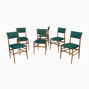Mid-Century Model Leggera Chairs by Gio Ponti for Cassina, Set of 6