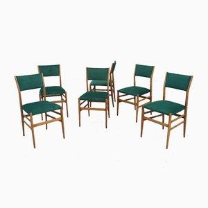 Mid-Century Model Leggera Chairs by Gio Ponti for Cassina, Set of 6