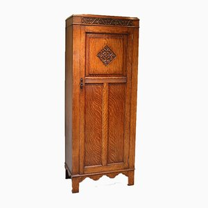 Solid Oak Hall Cupboard, 1920s