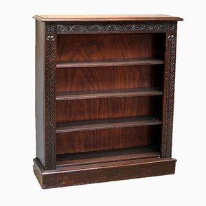 Victorian Dark Oak Open Bookcase