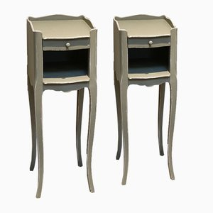 Small Proportioned Painted Nightstands, 1940s, Set of 2