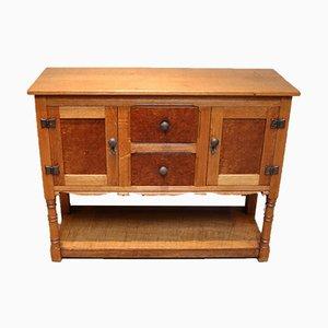Cotswold Style Oak Sideboard, 1930s